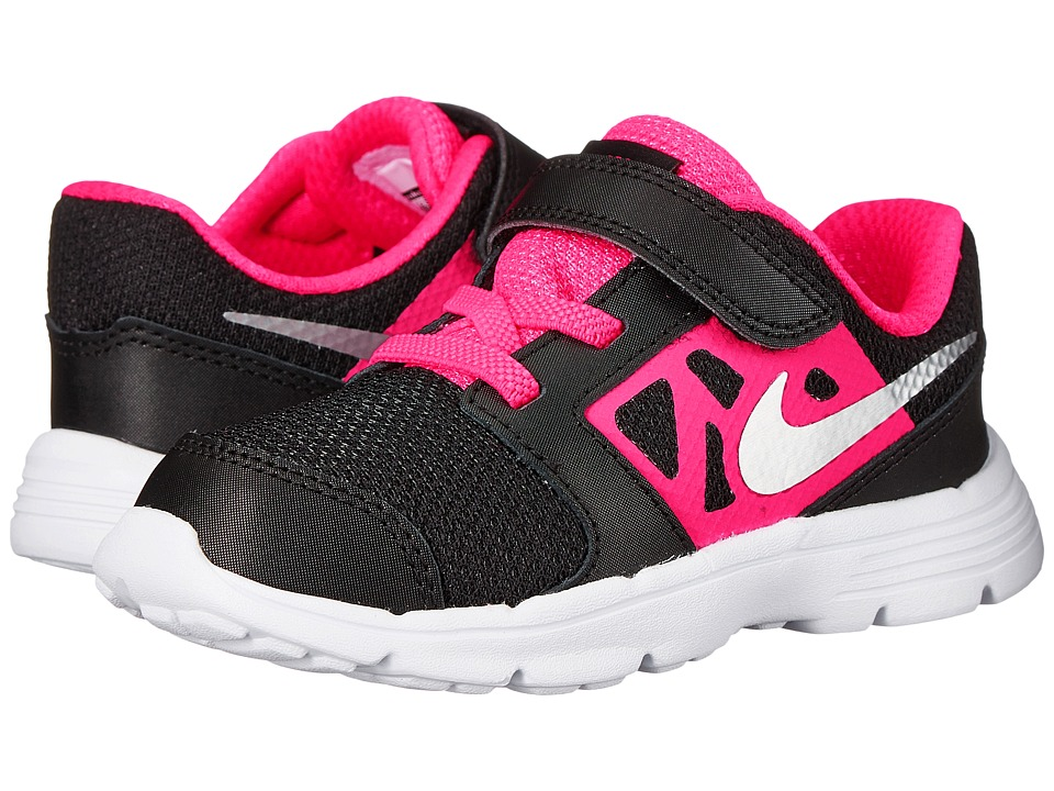 Nike Kids Downshifter 6 Infant/Toddler Black/Hyper Pink/White/Metallic Silver Girls Shoes