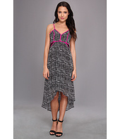 Aryn K - High Low Dress w/ Lace Inserts