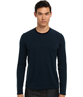 Vince - L/S Contrast Crew Sweater w/ Suede Patch