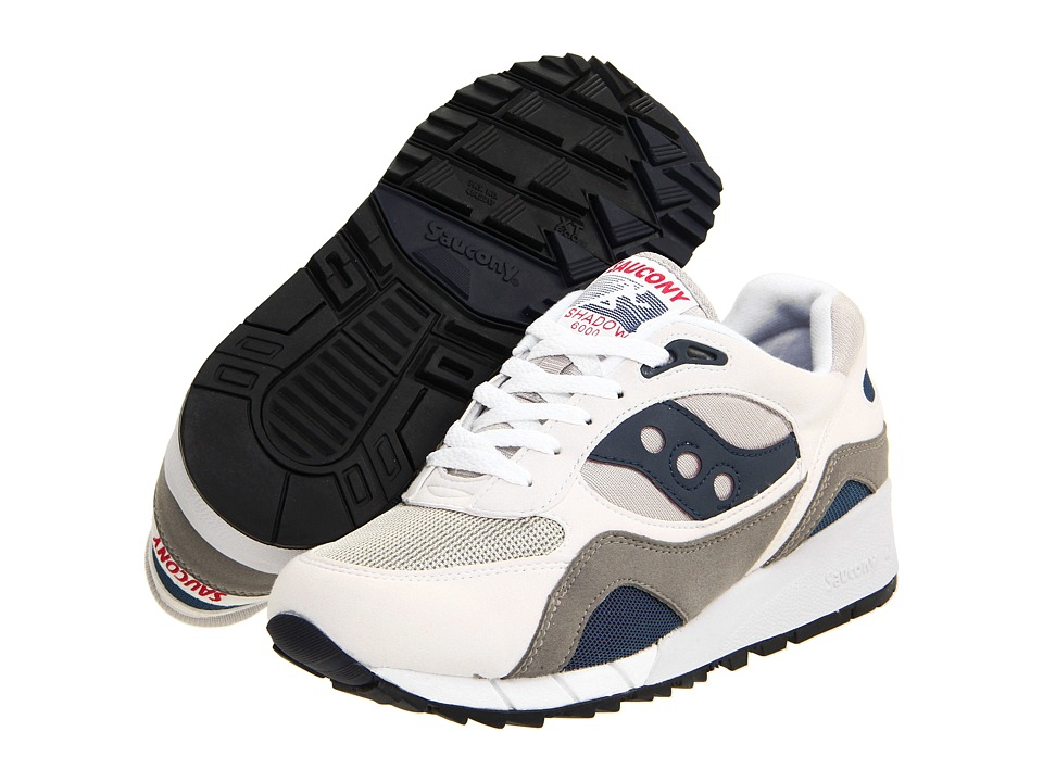 Saucony Shadow 6000 White/Grey/Navy/Berry Mens Shoes