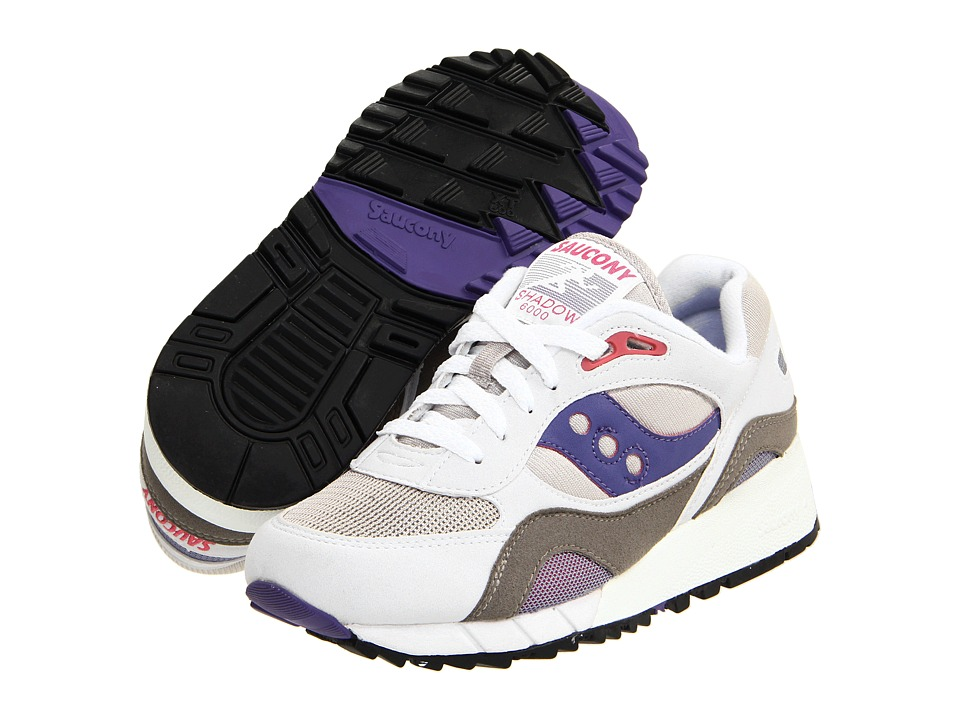 Saucony Shadow 6000 White/Grey/Amethyst/Pomegranite Womens Shoes