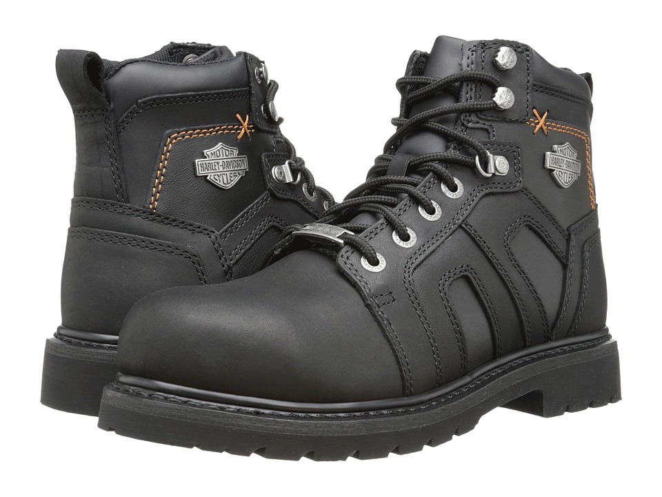 Harley-Davidson - Chad Steel Toe (Black) Mens Work Lace-up Boots