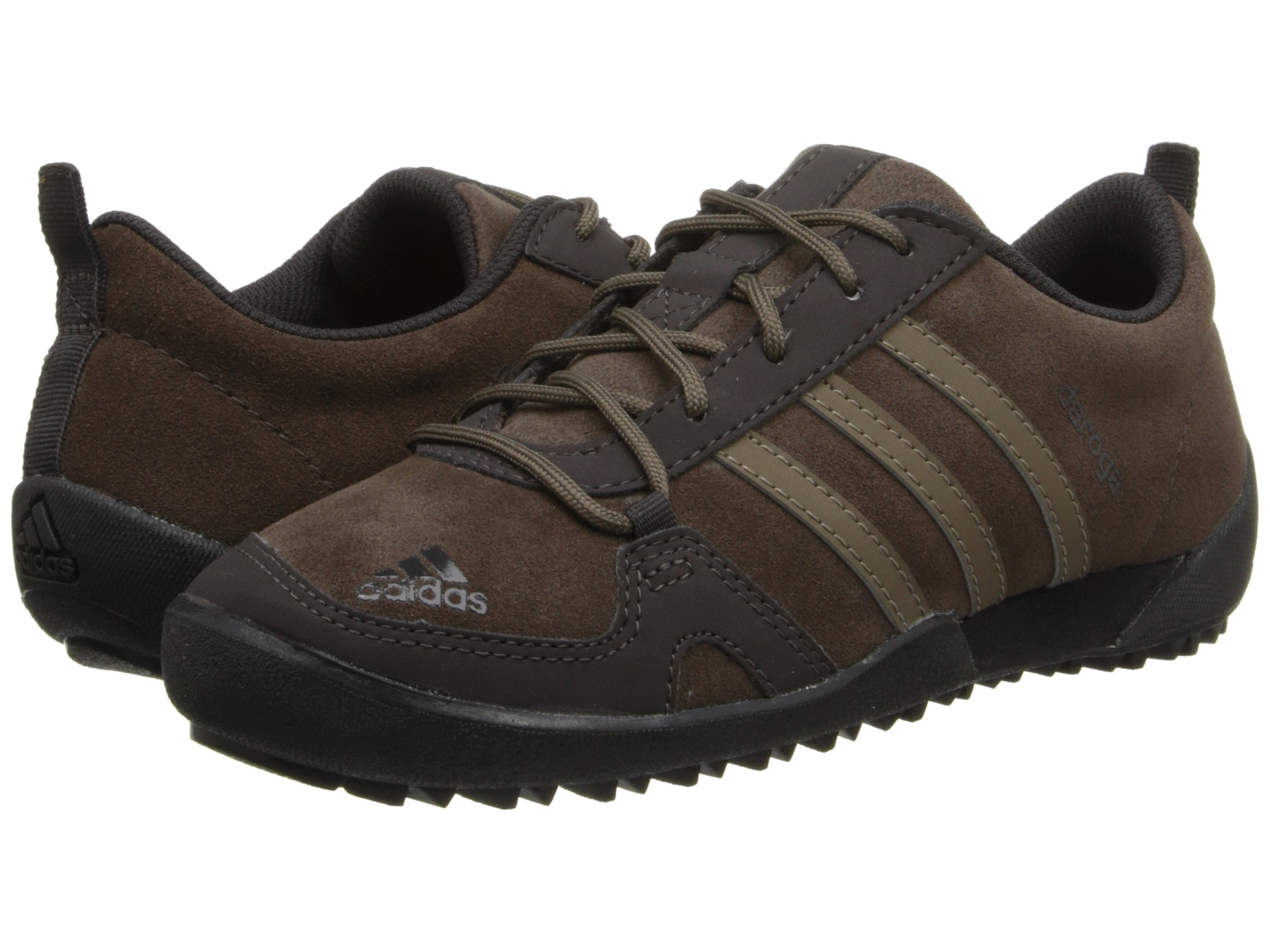 brown leather adidas trainers for kids