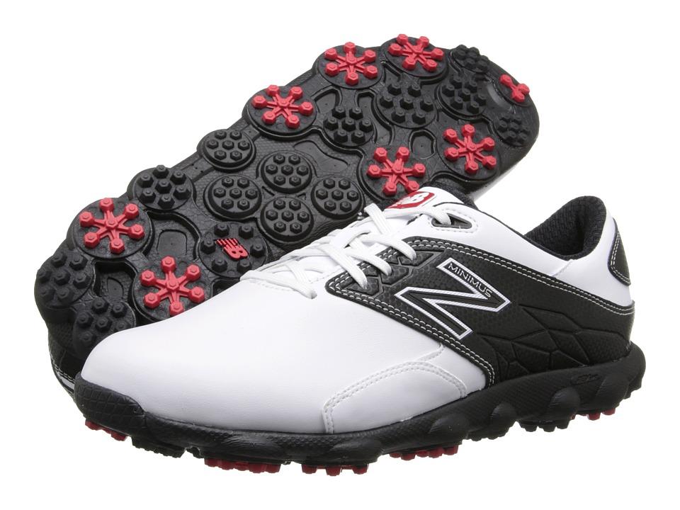 New Balance Golf Minimus LX White/Black Mens Golf Shoes