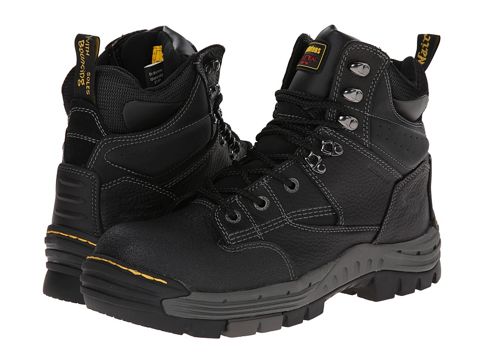 Dr. Martens Work Isambard 8-Tie ST Waterproof Boot (Black Industrial Grizzly) Men