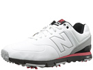 New Balance Golf NBG574 White, Red Shoes