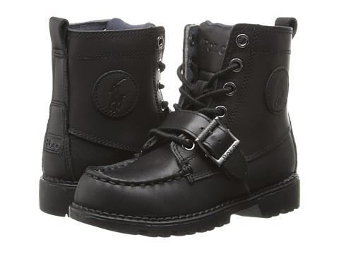 Polo Ralph Lauren Kids Ranger Hi II FA14 (Little Kid) - Black Leather