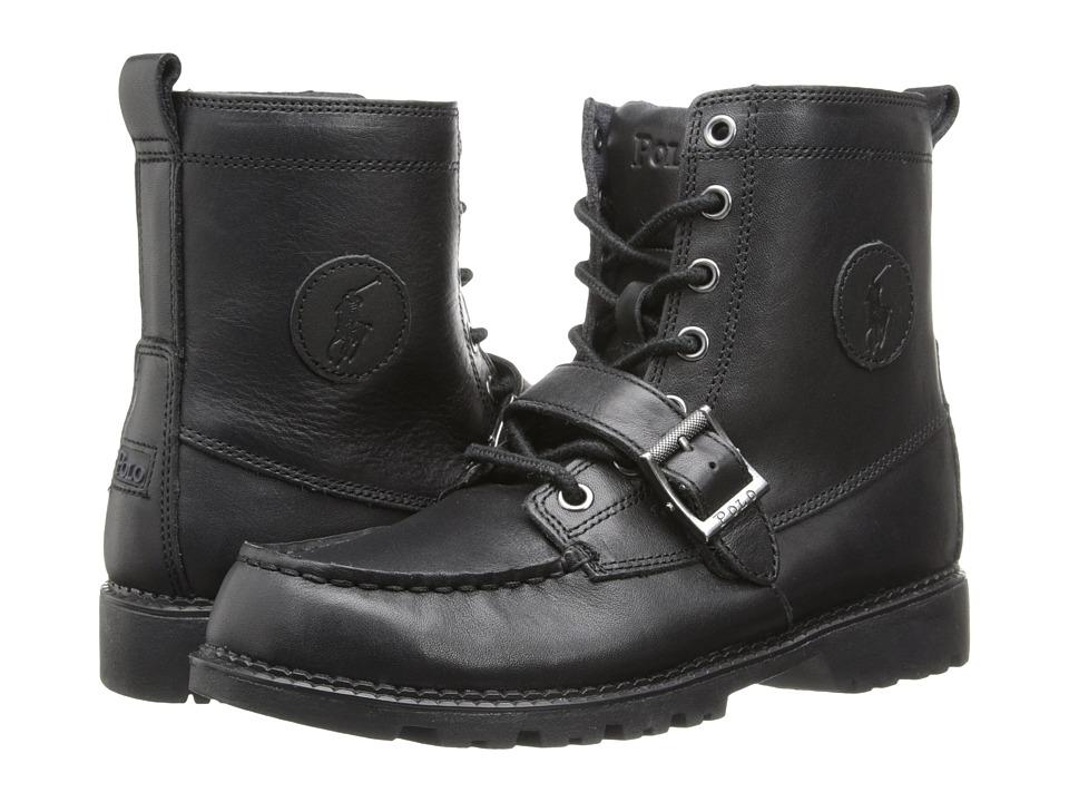 Polo Ralph Lauren Kids Ranger Hi II FA14 Big Kid Black Leather Boys Shoes