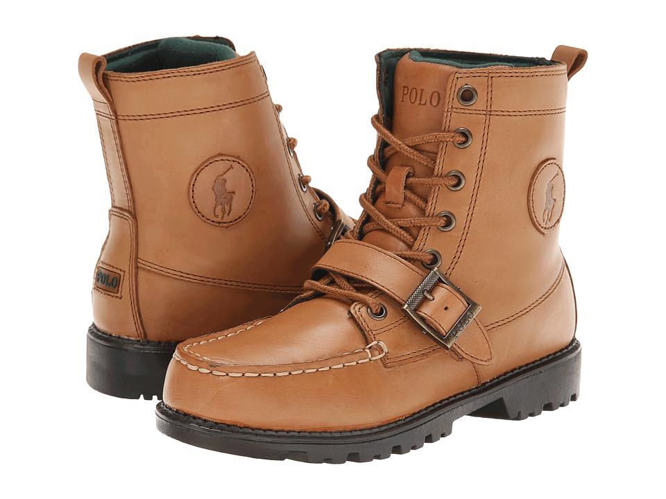 Polo Ralph Lauren Kids Ranger Hi II FA14 Big Kid Tan Burnished Leather Boys Shoes