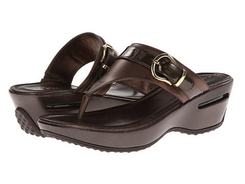 Cole Haan Maddy Thong (Dark Chocolate Metallic) Women's Sandals