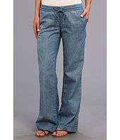 KUT from the Kloth - Drawstring Tencel Wide Leg in Zeal Medium Denim