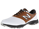 New Balance Golf NBG2001 White, Brown Shoes