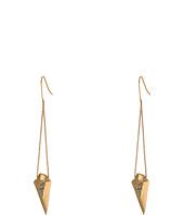 Sam Edelman - Snakeskin Faceted Pave Drop Earrings