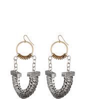 Sam Edelman - Girl's Club Metallic Chain Fan Earrings
