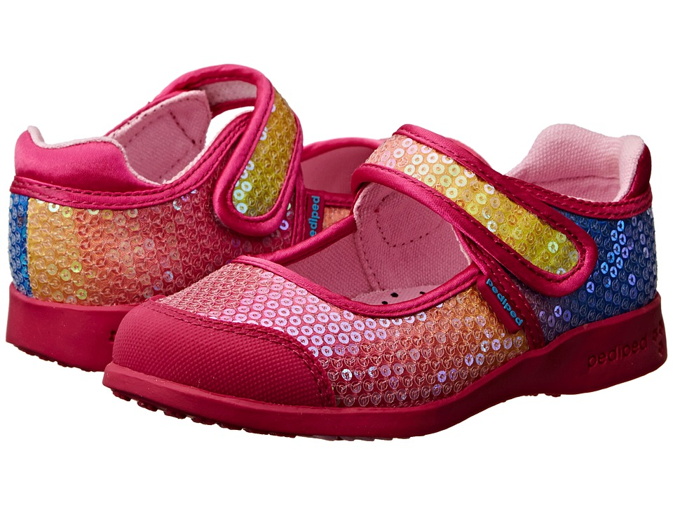 pediped Leah Flex (Toddler/Little Kid/Big Kid) (Rainbow) Girl's Shoes