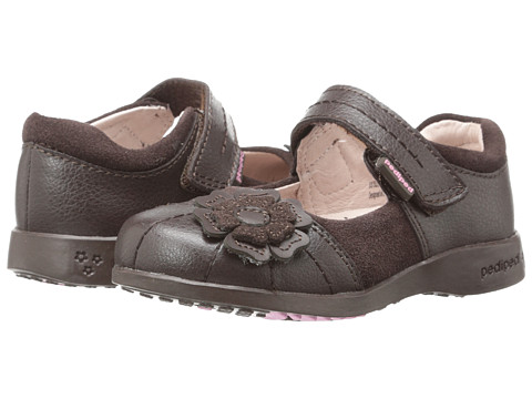 pediped Sarah Flex (Toddler/Little Kid/Big Kid) - Chocolate