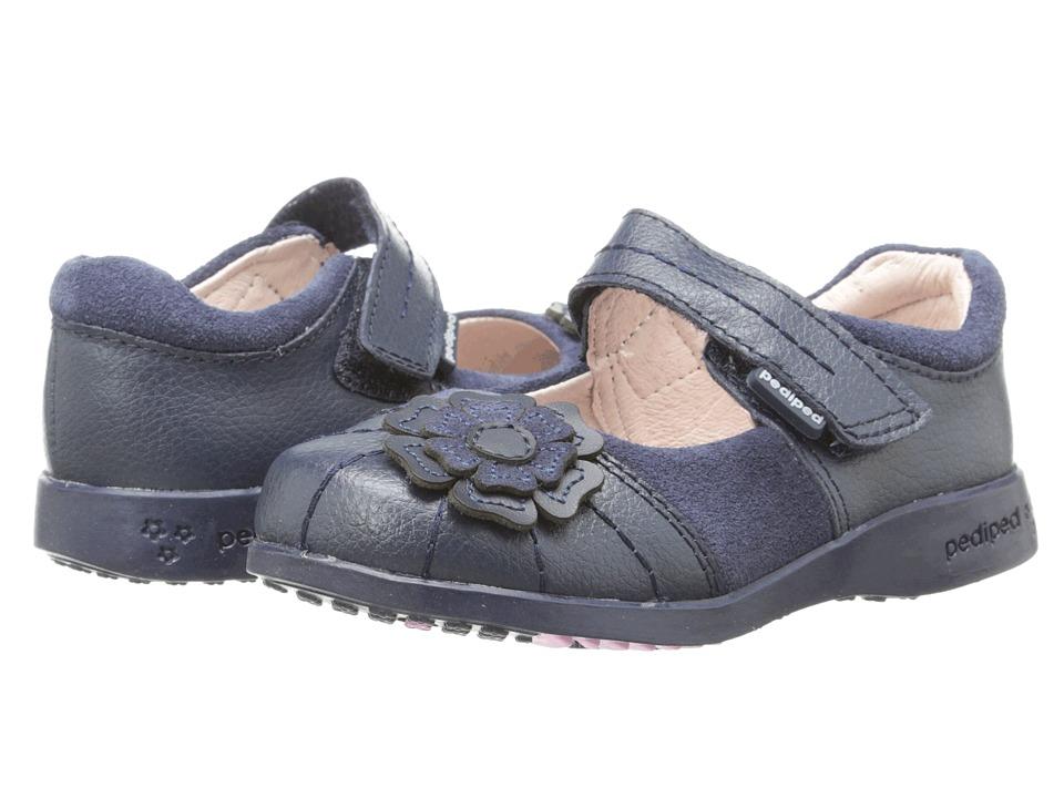 pediped Sarah Flex (Toddler/Little Kid/Big Kid) (Navy) Girl's Shoes