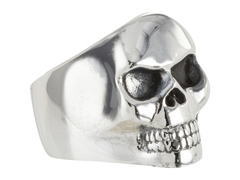 King Baby Studio Small Classic Skull Ring Size - Silver