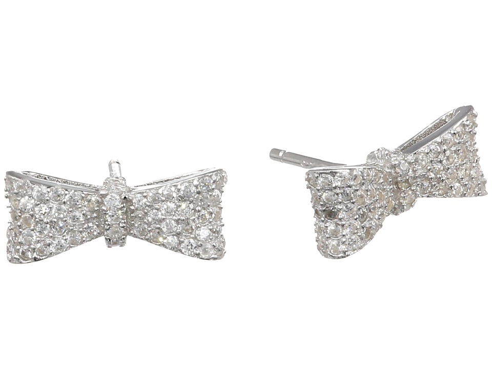 King Baby Studio - Bow Post Earring Pave Cz