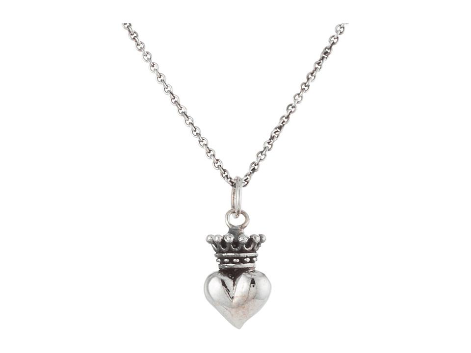 King Baby Studio - Micro Crowned Heart Pendant On 18 Micro Rolo Chain