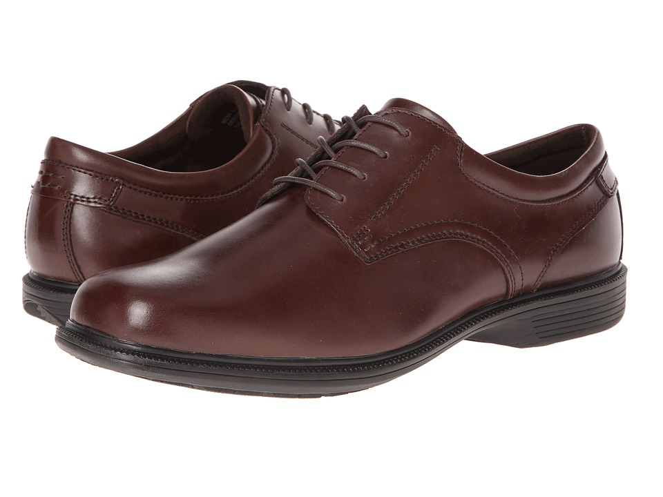 Nunn Bush Baker St. Plain Toe Oxford (Brown) Men