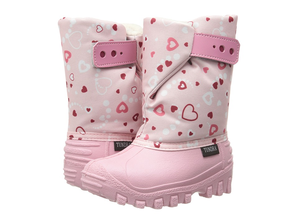 Tundra Boots Kids Teddy Toddler/Little Kid Pink/Hearts Girls Shoes