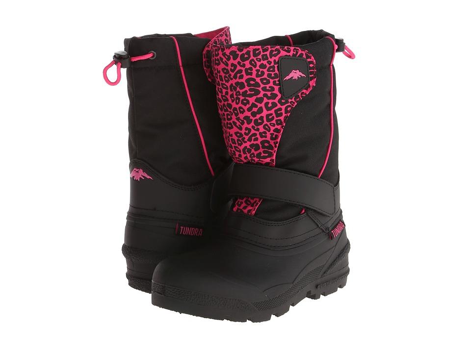 Tundra Boots Kids Quebec Toddler/Little Kid/Big Kid Black/Leopard Girls Shoes