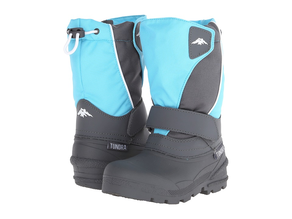 Tundra Boots Kids Quebec Medium Toddler/Little Kid/Big Kid Teal/Grey Kids Shoes
