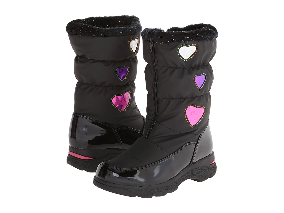 Tundra Boots Kids Hearty Toddler/Little Kid/Big Kid Black /Hearts Girls Shoes