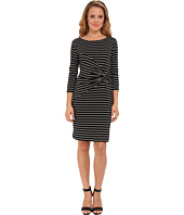 Calvin Klein - L/S Striped MJ Knot Dress
