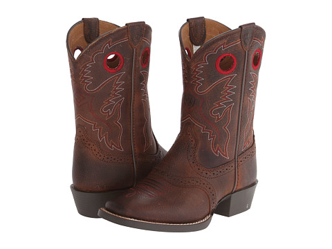 Ariat Kids Roughstock (Toddler/Little Kid/Big Kid) - Brown Oiled Rowdy