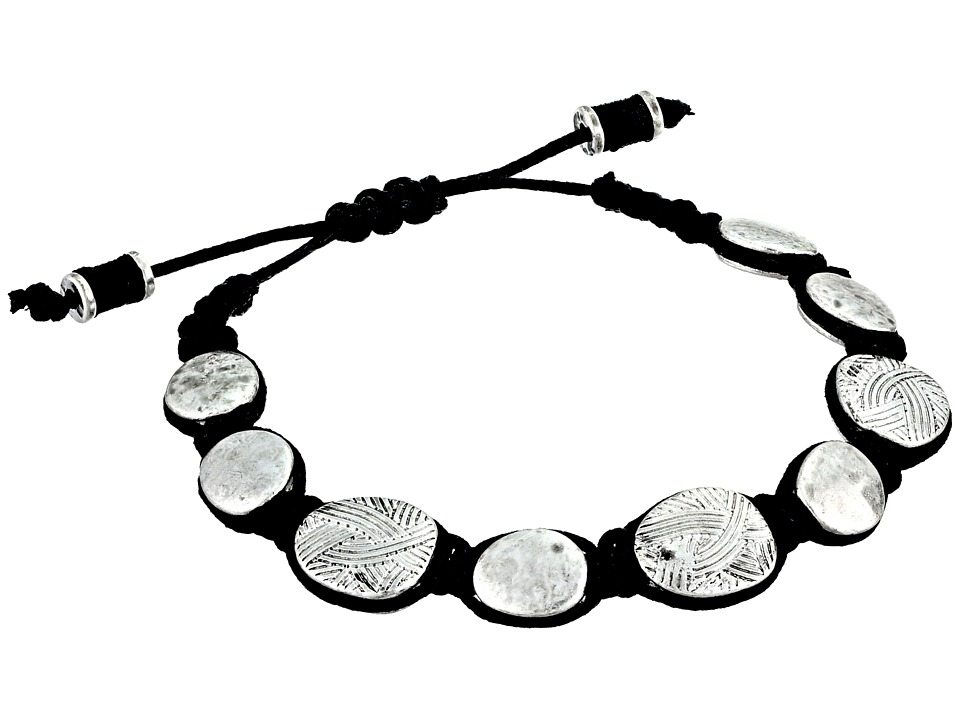 The Sak Batik Pebble Slider Bracelet Silver Bracelet