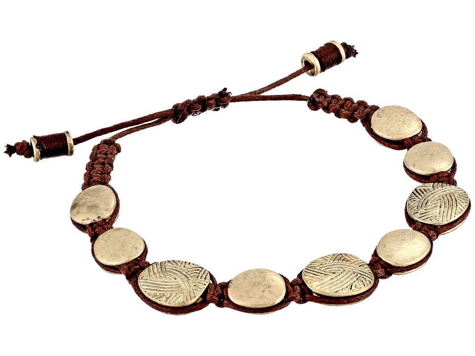 The Sak Batik Pebble Slider Bracelet Gold Bracelet