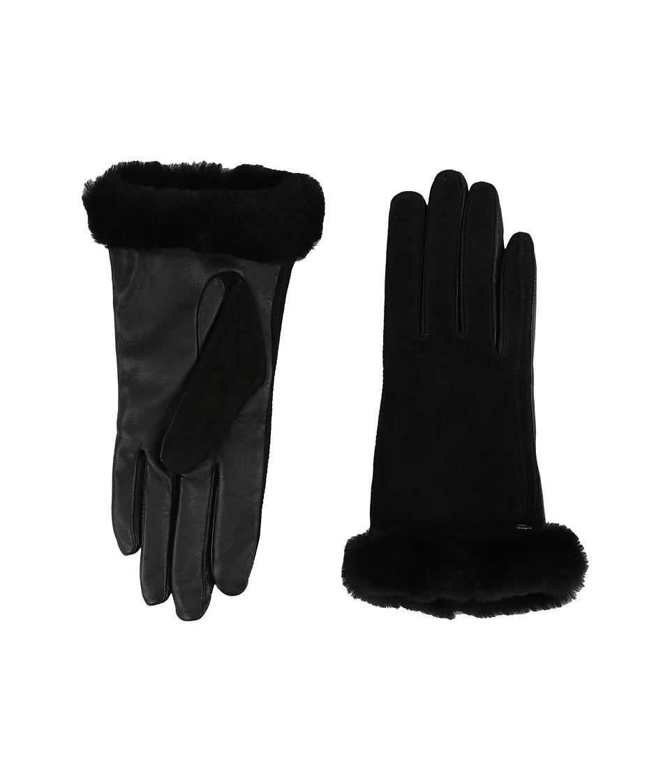 UGG Classic Suede Smart Glove 14 (Black) Dress Gloves