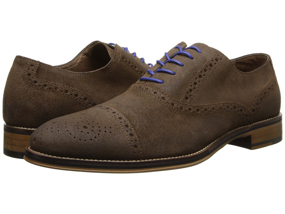 Johnston amp Murphy Conard Cap Toe Brown Wax Suede Mens Shoes