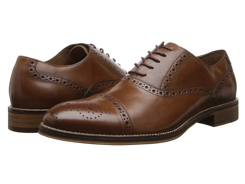 Johnston amp Murphy Conard Cap Toe Tan Italian Calfskin Mens Shoes