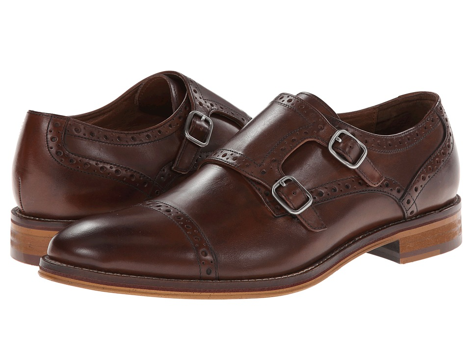 Johnston & Murphy Conard Double Monk Strap (Mahogany Ital...