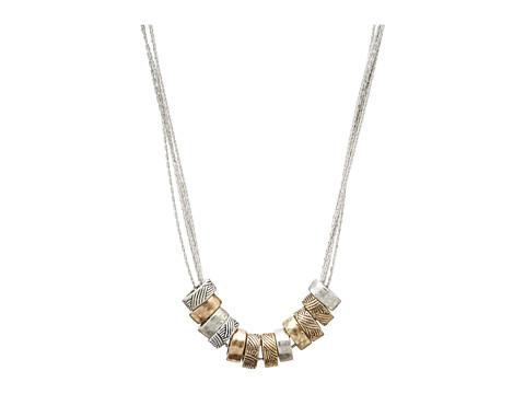 The Sak Multi Ring Slider Necklace - Two Tone