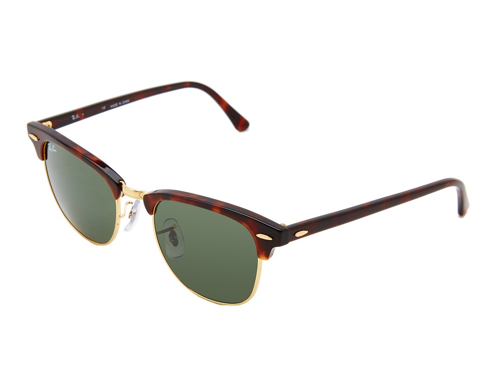 Ray-Ban Clubmaster RB3016 51mm (Dark Tortoise) Fashion Sunglasses