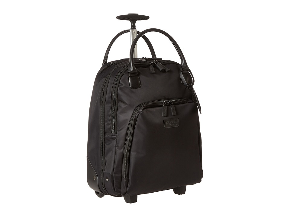 Lipault Paris Vertical Wheeled Brief (Black) Briefcase Bags