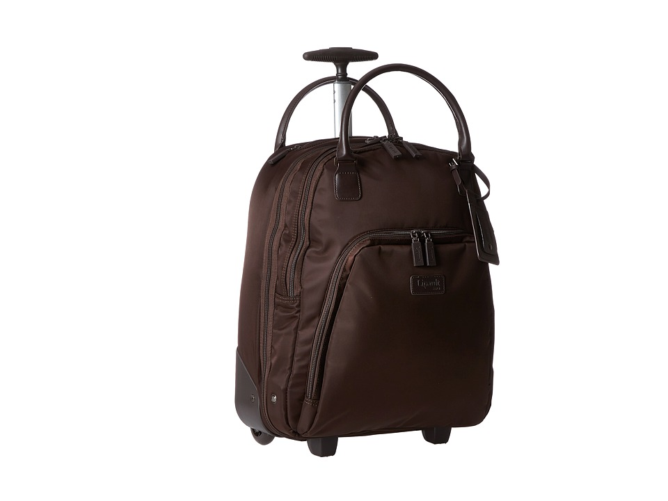 Lipault Paris Vertical Wheeled Brief Espresso Briefcase Bags