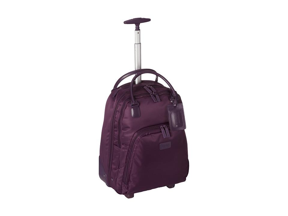 Lipault Paris - Vertical Wheeled Brief (Purple) Briefcase Bags