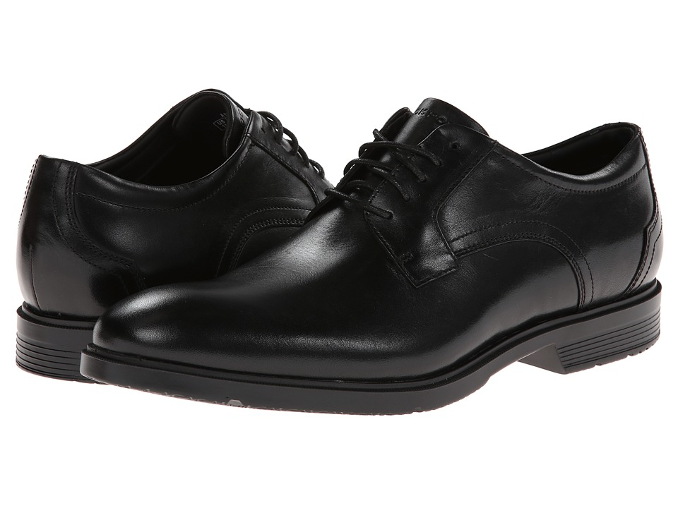 Rockport City Smart Plain Toe Oxford Black Mens Lace up casual Shoes