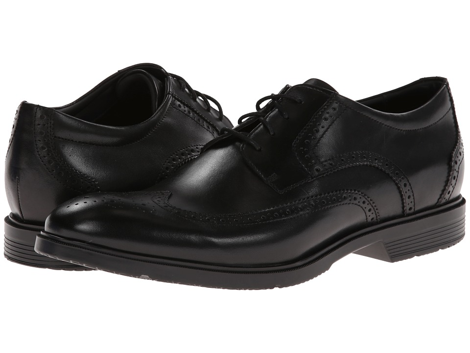 Rockport City Smart Wing Tip Oxford Black Mens Lace up casual Shoes
