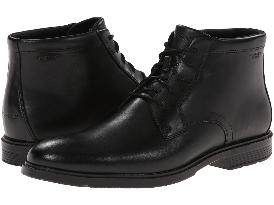 Rockport City Smart Waterproof Dress Chukka Boot (Black Waterproof) Men