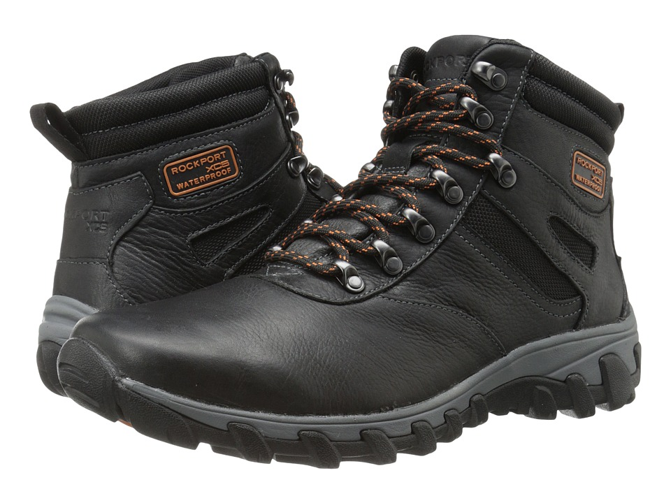 Rockport - Cold Springs Plus Plain Toe Boot - 7 Eye (Black Leather) Men