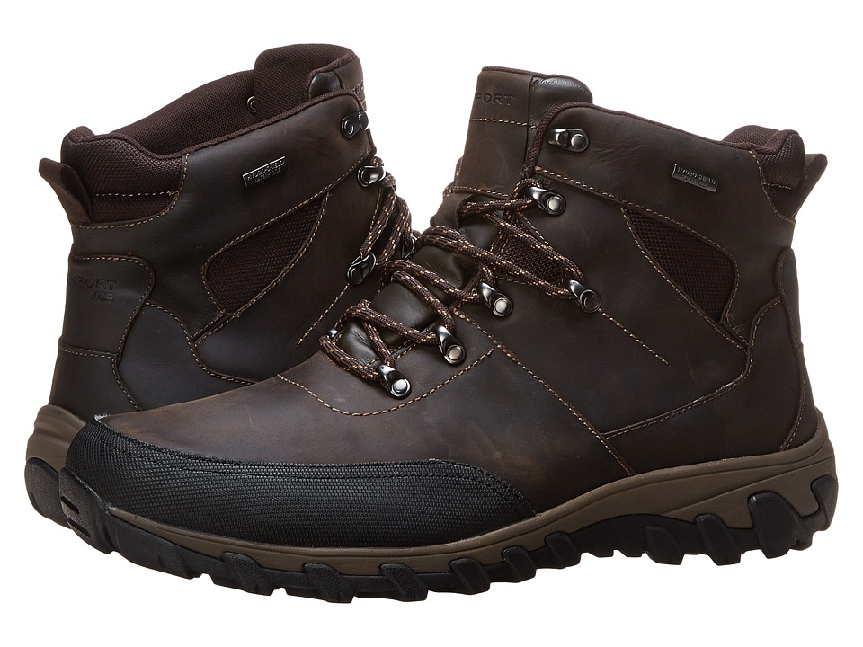 Rockport - Cold Springs Plus Mudguard Boot - Speed Lace (Dark Brown Oiled Leather) Men