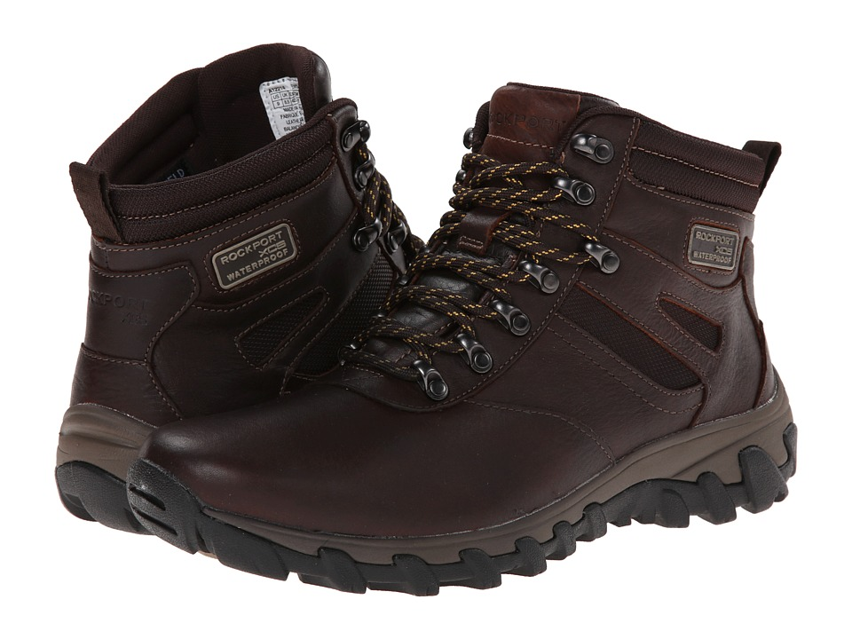 Rockport Cold Springs Plus Plain Toe Boot 7 Eye (Chocolate Leather Smooth) Men