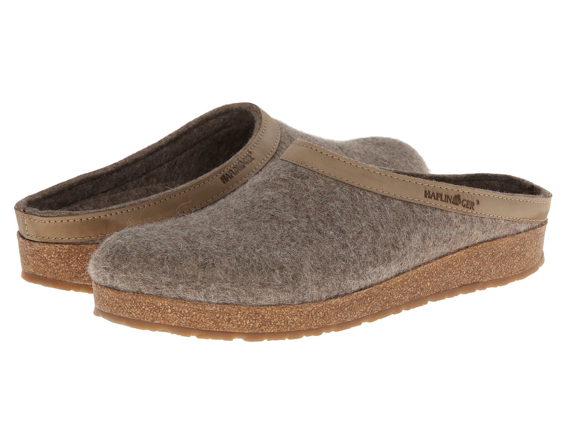 Haflinger GZL Leather Trim Grizzly Earth - Zappos.com Free ...