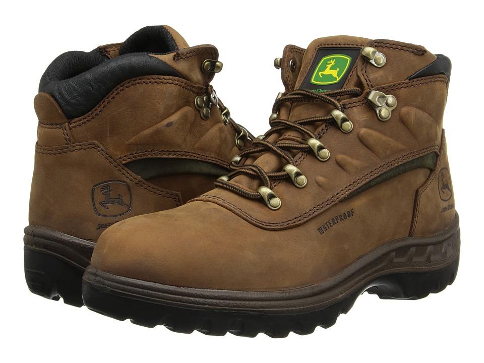 John Deere WCT Waterproof 5 Hiker Tan Tramper Hiker Mens Work Lace up Boots